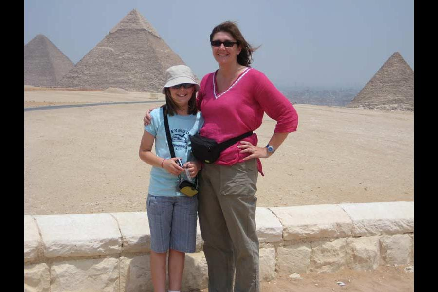 family trip in the pyramids photos
