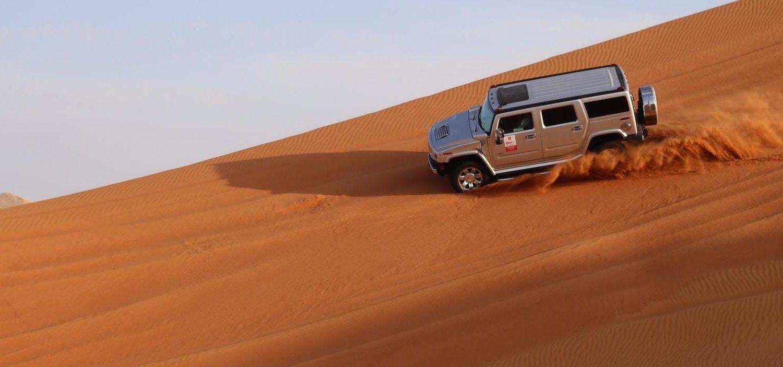 Dubai dune bashing, Dubai and Abu Dhabi highlights